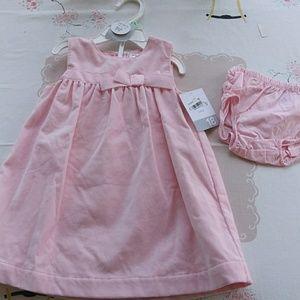 Carter's pink velvet dress